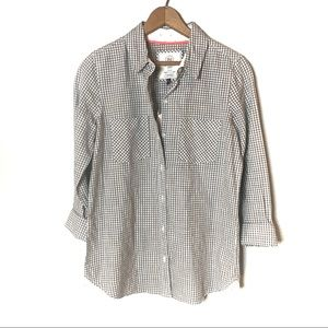 SO PERFECT SHIRT RELAXED COTTON GRAY WHITE SMALL